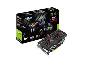 ASUS GeForce GTX 1060 ROG Strix 6GB OC Edition Graphics Card