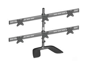 "Brateck Free Standing 13-24"" Six LCD Monitors Stand Mount"
