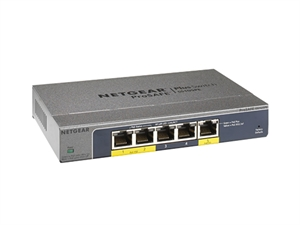 Netgear GS105PE ProSafe Plus 5-port PoE Passthru Gigabit Switch