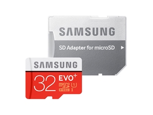 Samsung Evo Plus 32GB Micro SDHC Memory Card with SD Adapter