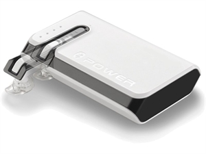 Hame 7800mAh Power Bank & Bluetooth Headset - White