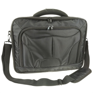 """Access STC Clam Shell 15.6"""" Notebook Carry Case - Black Polyester Fabric"""