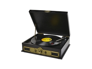 Mbeat Vintage USB Turntable with Bluetooth Speaker and AM/FM Radio