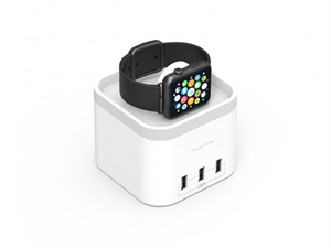 Mbeat PowerTime Apple Watch Charging Dock with 3 Extra Smart Charging Ports