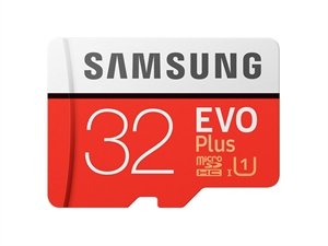 Samsung 32GB EVO Plus MicroSDHC Card with SD Adapter
