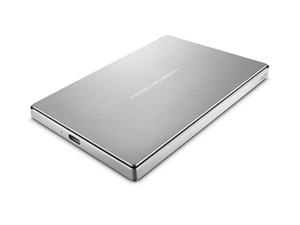 LaCie Porsche Design 2TB USB 3.0 New Type-C Portable Hard Drive - Silver