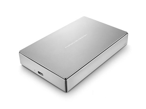 LaCie Porsche Design 4TB USB 3.0 New Type-C Portable Hard Drive - Silver