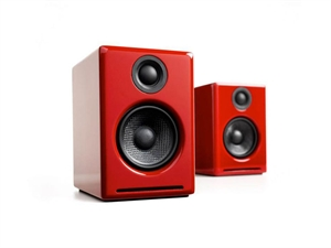 Audioengine 2+ Powered Desktop Speakers(Pair) - Hi-Gloss Red