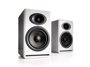 Audioengine P4 Passive Bookshelf Speakers(Pair) - Hi-Gloss White