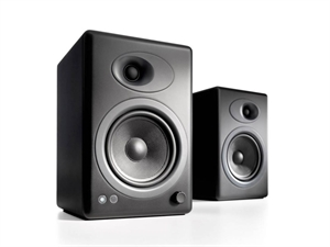 Audioengine 5+ Powered Bookshelf Speakers(Pair) - Satin Black