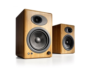 Audioengine 5+ Powered Bookshelf Speakers(Pair) - Solid Bamboo
