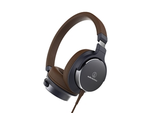 Audio-Technica ATH-SR5 On Ear Hi-Res Audio Headphones - Navy Brown