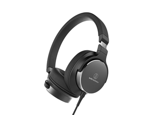 Audio-Technica ATH-SR5 On Ear Hi-Res Audio Headphones - Black