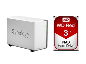 Synology 2 Bay DS216SE NAS + 6TB (2 x 3TB) WD Red NAS HDD Bundle
