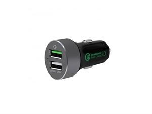 Mbeat QuickBoost S Certified QC 2.0 & Smart USB Car Charger