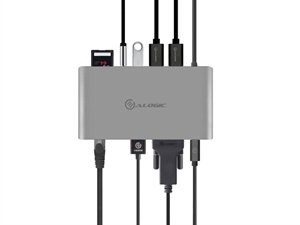 Alogic USB-C Portable SUPER Dock with Power Delivery - Space Grey