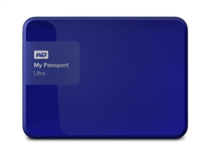 Western Digital My Passport Ultra 1TB External USB 3.0 Hard Drive with Backup Software, Blue - WDBGPU0010BBL