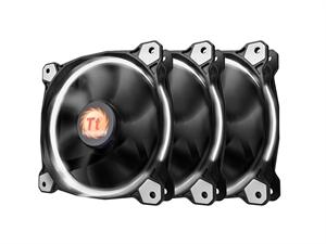 Thermaltake Riing 12 High Static Pressure White LED Radiator Fan - 3 Fans Pack