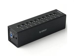 Orico 10 Port Aluminium Super Speed USB 3.0 Hub - Black A3H10