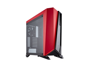 Corsair Carbide Series Spec-Omega Tempered Glass Gaming Mid-Tower Case - Black/Red