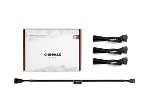 Noctua NA-SEC1 chromax.black 30cm 4Pin PWM Extension Cables (3 Pack)