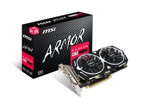MSI AMD Radeon RX 570 Armor 8GB OC Edition Gaming Graphics Card
