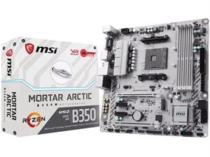MSI B350M Mortar Arctic AM4 AMD Motherboard