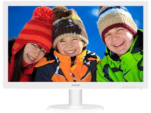 "Philips 243V5QHAWA 23.6"" Full HD LED Monitor - White"