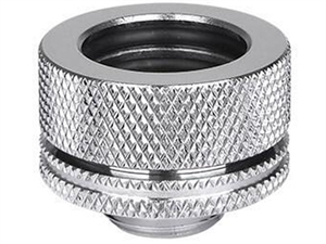 "Thermaltake Pacific G1/4 16mm (5/8"") OD Compression - Chrome Fitting"