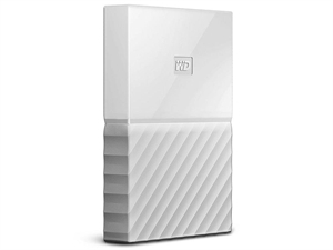 Western Digital WD My Passport 1TB Portable Storage - White