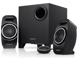 Creative T3250 Wireless 2.1 Bluetooth Desktop Speaker - Black