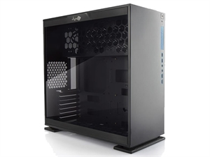 IN WIN 303 Black Mid Tower With Tempered Glass Side Panel Case