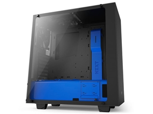 NZXT Source S340 Elite ATX Mid-Tower Case - Matte Black/Blue