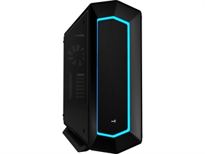 Aerocool P7-C1 Tempered Glass Colour LED Front Panel Mid Tower - Black