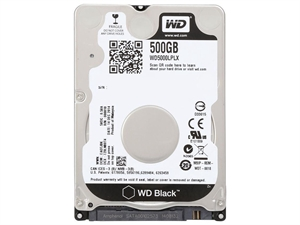 "Western Digital Black 500GB 2.5"" 7mm Laptop Hard Drive"