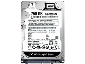 "Western Digital Black 750GB 2.5"" Laptop Hard Drive - WD7500BPKX"