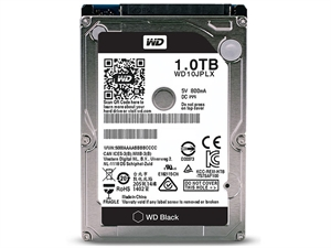 Western Digital Black 2.5'' 1TB Laptop Hard Drive