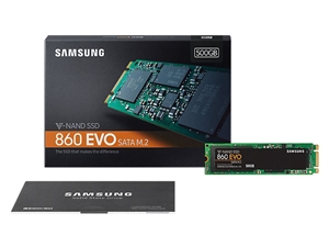 Samsung 860 EVO 500GB M.2 2280 SSD - MZ-N6E500BW