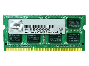 G.Skill 4GB DDR3 1333MHz SODIMM RAM - For Mac
