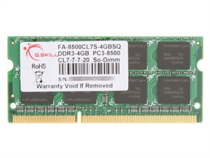 G.Skill 4GB DDR3 1066MHz SODIMM RAM - For Mac