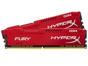 Kingston HyperX FURY 16GB (2x 8GB) DDR4 2133MHz Desktop RAM - Red