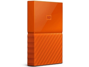 Western Digital WD My Passport 1TB USB3.0 Portable Hard Drive- Orange