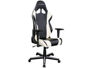 DXRacer Racing Series Gaming Chair Neck/Lumbar Support - Black & White
