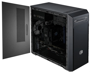 Cooler Master MasterBox Lite 3 mATX Case with 500W 80 Plus Power Supply
