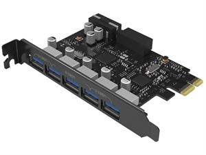 ORICO USB 3.0 5-Port PCI-E Expansion Card with Dual Chip