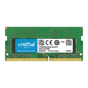 Crucial 8GB DDR4 2400 MT/s (PC4-19200) CL17 SODIMM Single Ranked