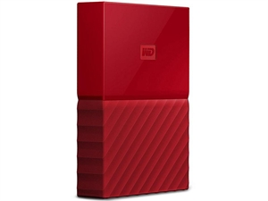 Western Digital WD My Passport 2TB USB 3.0 Portable Hard Drive - Red
